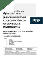 PR PC 02.05.01 Coordinación con organismos e instituciones_Equipo Orientación Liceo Castilla
