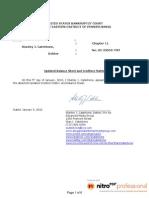 Chapter 11 05-23059 Motion to File Updated Balance Sheet and Creditors Matrix January 5, 2010