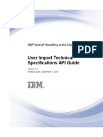 IBM Kenexa BrassRing on Cloud-User Import Technical Specifications API