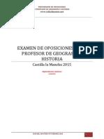 Examen Oposiciones Geografia e Historia Castilla La Mancha 20151