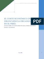 Costo Economico de La Delincuencia Organizada en El Peru