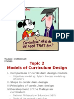 Models of Curriculum Design