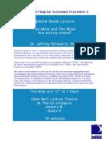 Jeffrey Schwartz Lecture