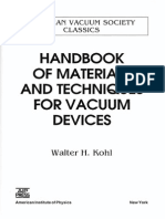 Andbook of Materials & Techniques for Vaccum