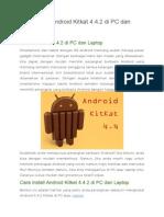 Cara Install Android Kitkat 4