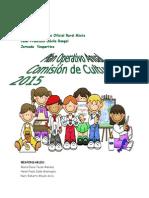 Plan Operativo Anual de La Comision de Cultura 2015