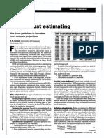 Capital Cost Estimating