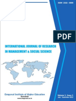 International Journal of Research in Management & Social Science Volume1, Issue 1, July - September 2013 ISSN