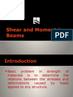 Shear and Moment in Beams