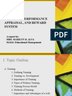 Training, Performance Appraisal, And Rewards by Mrs. Alva