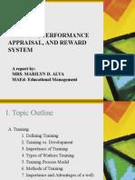 Training, Performance Appraisal, And Rewards by Mrs. Alva