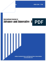 International Journal of Advance & Innovative Research Volume 2, Issue 1 ( II ) January - March , 2015 ISSN