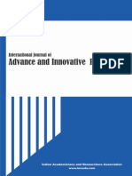 International Journal of Advance & Innovative Research Volume 1, Issue 1 ISSN