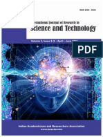 International Journal of Research in Science and Technology Volume 2, Issue 2 (I) April - June 2015 ISSN