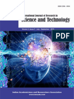 International Journal of Research in Science and Technology Volume 2, Issue 3 (I) July - September 2015 ISSN