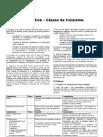 Programme techno 3ème 2009