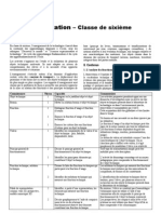 Programme techno 6ème 2009