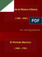 Historia de La Musica Clasica 1600 2000