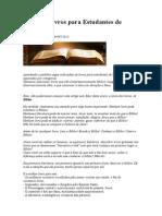 Dicas de Livros para Estudantes de Teologia.doc