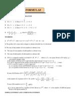 Important Formulae_for CAT
