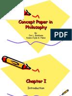 Concept Paper in Philosophy