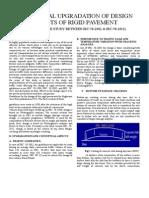 Conceptual Upgradation of Design Aspects of Rigid Pavement