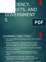 Efficiency, Markets, And Governments
