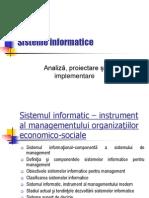 Programarea Sistemele Informatice - Curs 1. Sistemul Informatic