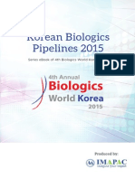 Korean Biologics Pipeline 2015