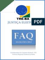 TRE BA Perguntas Frequentes Eleicoes 2012