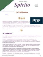 ViviamoInPositivo - Meditazione