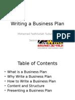 Writing a Business Plan 20130314