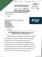 Atkinson v. Colorado Department of Corrections et al - Document No. 1