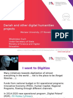 Dariah and other digital humanities projects