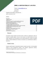 Entre MAx Weber, la gestion publica y las Ntics_ Xavier Barragán