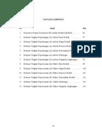 Penulisan Daftar Isi Skripsi Dan Daftar Lampiran