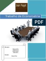 Trabalho de Econometria Séries Cronologicas