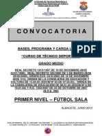 Curso de Tecnico Deportivo Nivel 1 Futbol Sala