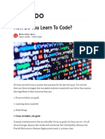 How Do You Learn to Code