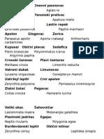 Kartice sa imenima vrsta insekata