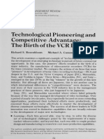 Technological Pioneering and Competitive Advantage