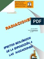 HUGO MARTIN ATOMICA CORDOBA RADIACIONES UTN VILLA MARIA 2015 EFECTOS BIOLOGICOS DE LAS RADIACIONES