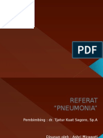 Presentasi Referat Pneumonia pada anak