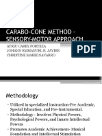 Carabo-cone Methodology – Sensory-motor Approach