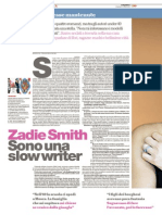 Zadie Smith - Sono una slow writer