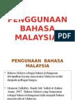 Penggunaan Bahasa Malaysia