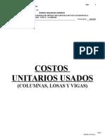Analisis Costos Unitarios Usados Centro Educativo San Miguel