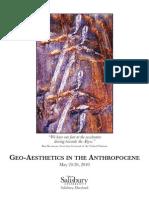 Geoaesthetics in the Anthropocene (Conference Program)
