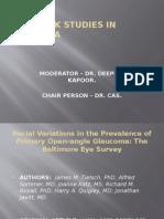 Landmark Studies in Glaucoma