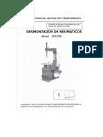 Traducción Manual Del Usuario, Desmontador de Neumáticos